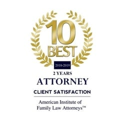 10 best 2018-2019 Attorney Client Satisfaction | American Institute of Family Law Attorneys™